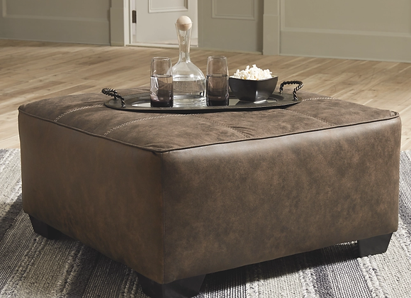 Abalone Oversized Accent Chocolate Ottoman