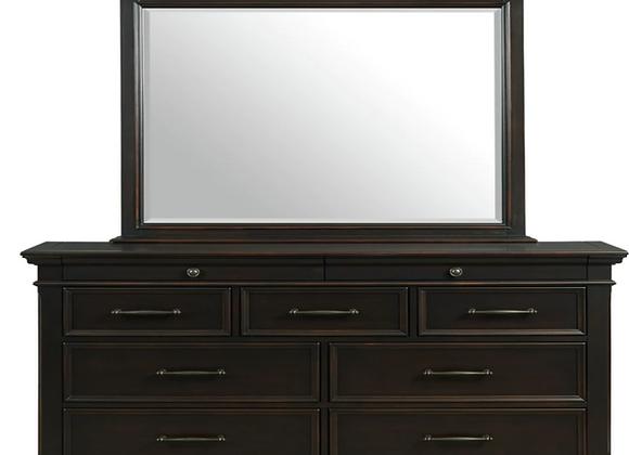 Slater Black Dresser and Mirror
