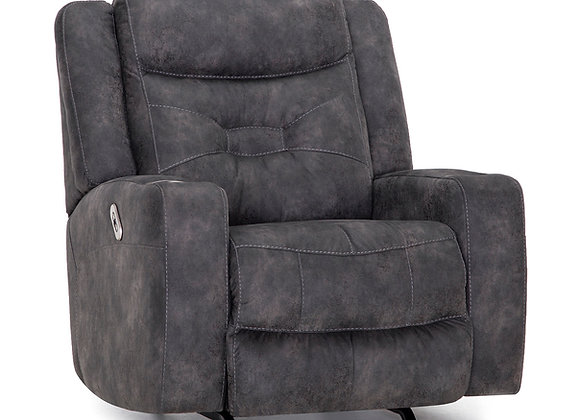 Quantum Power Rocker Recliner w/QI Slot (Grey)