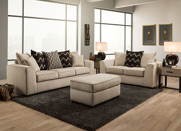 Fawn Sofa and Loveseat (does not come with ottoman)