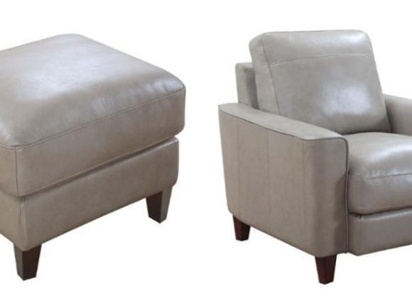 Chino Sand Collection - chair and matching ottoman