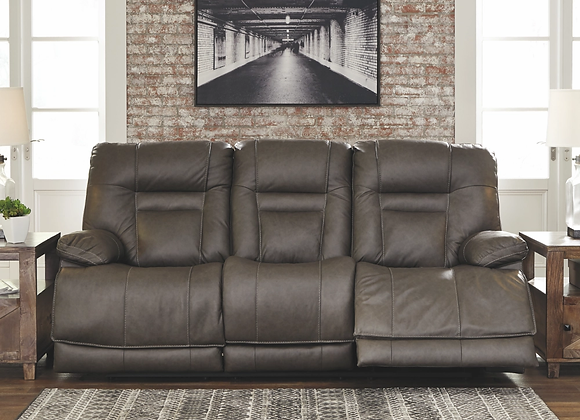 Wurstrow Smoke Power Reclining Sofa