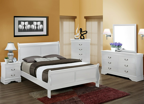 Louis Philip White Bedroom Group (available in Queen, Twin and Full)