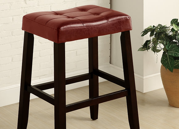 """Kent Red Saddle Counter Height Stool 29"""""""