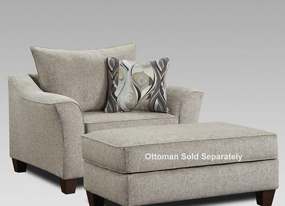 Dante Concrete Chair and Ottoman
