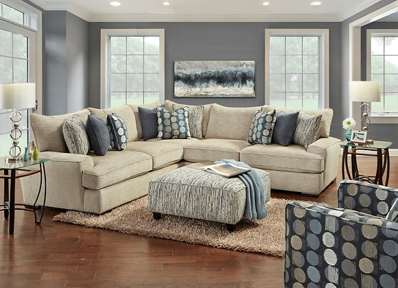 Handwoven Linen Sectional