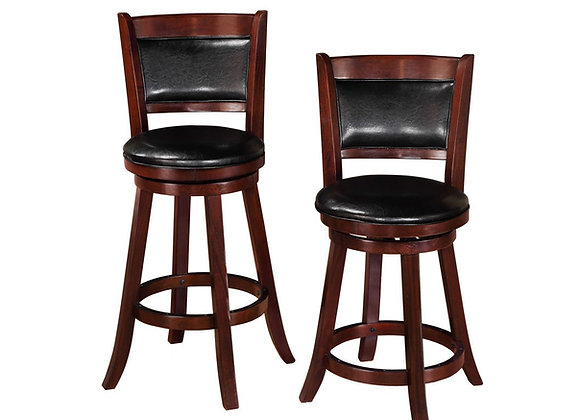 "Cecil Swivel Counter Height Stool 24"" (Black)"