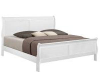 Louis Philip White Queen Bed (available in Twin and Full)
