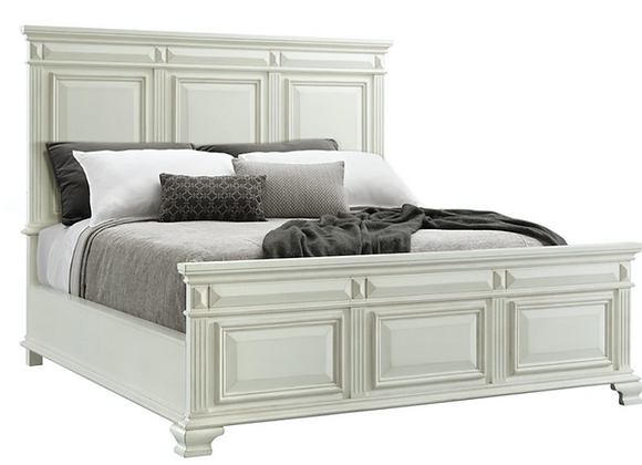 Calloway White Queen Bed (available in King)