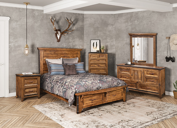 Urban Rustic Bedroom Group (available in King and Queen )
