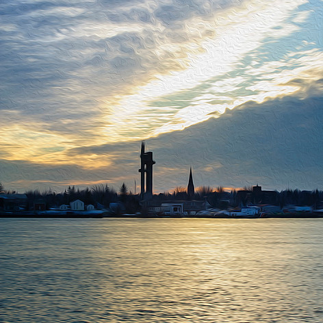 Sunset Over Sault Michigan
