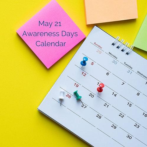 May 2021 Awareness Calendar and Content Plan Ideas