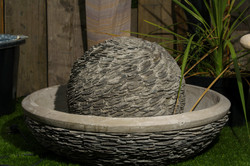 SLATE SPHERE WITH BOWL