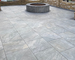Porcelain tiles are not just for the back garden, but can also be used as  an alternative to block p