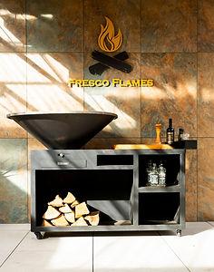 Sienna - Fresco Flames Wood burning bbq.