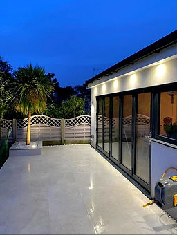 Light grey 1200 x 600  porcelain outdoor patio tile
