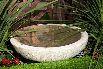 Large Granite bowl water feature