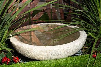 Large Granite bowl water feature