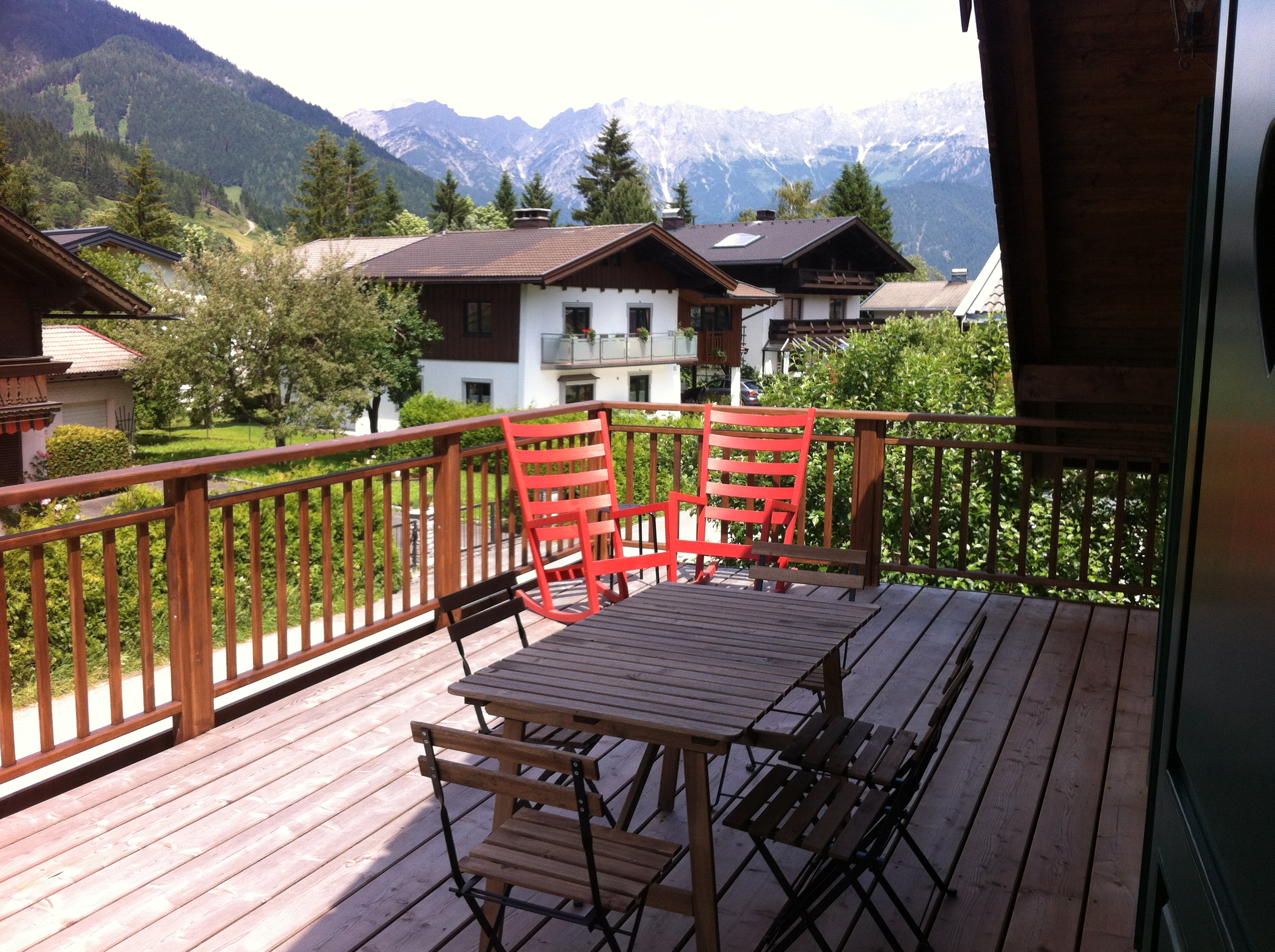 Holiday apartment Leogang terasse