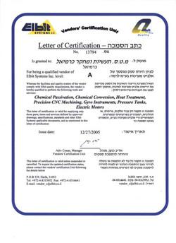 Elbit Certification