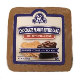 Chocolate Peanut Butter Cake Square