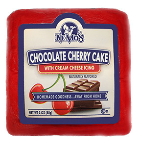 Chocolate Cherry Cake Square