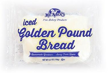 Iced Golden Pound Bread