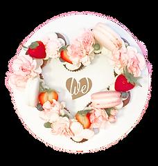 we heart cake company letter cake
