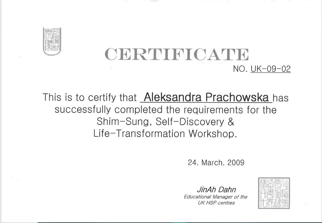 Mindfullness Trainer Certificate