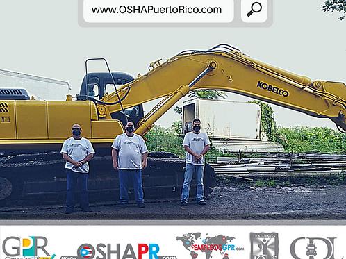 Clase de Manejo de EXCAVADORA + Adiestramiento OSHA