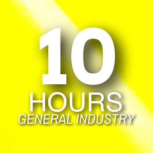 Certificación ONLINE Oficial OSHA 10-horas en INDUSTRIA GENERAL