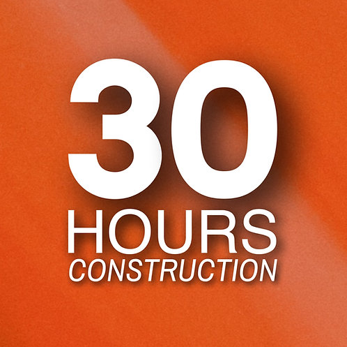 Certificación ONLINE Oficial OSHA 30-horas en CONSTRUCCIÓN con Guía de Estudio