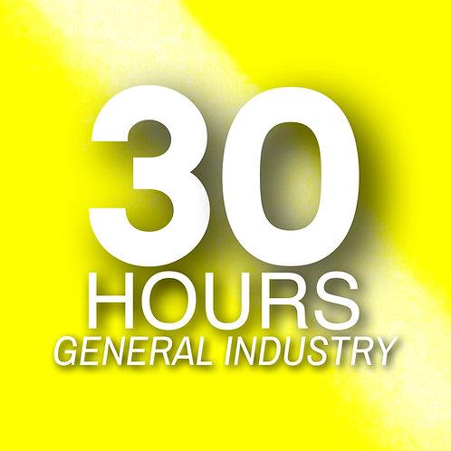 Certificación ONLINE Oficial OSHA 30-horas GENERAL con Guía de Estudio