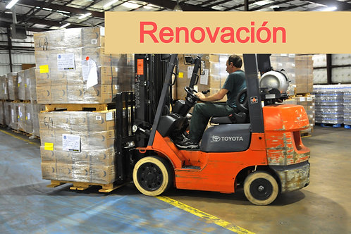 Renovación ONLINE de Regulaciones OSHA para el manejo de Montacargas