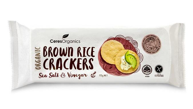 Organic Brown Rice Crackers Sea Salt & Vinegar -115g