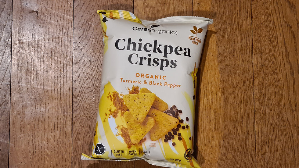 Chickpea Crackers Turmeric & Black Pepper