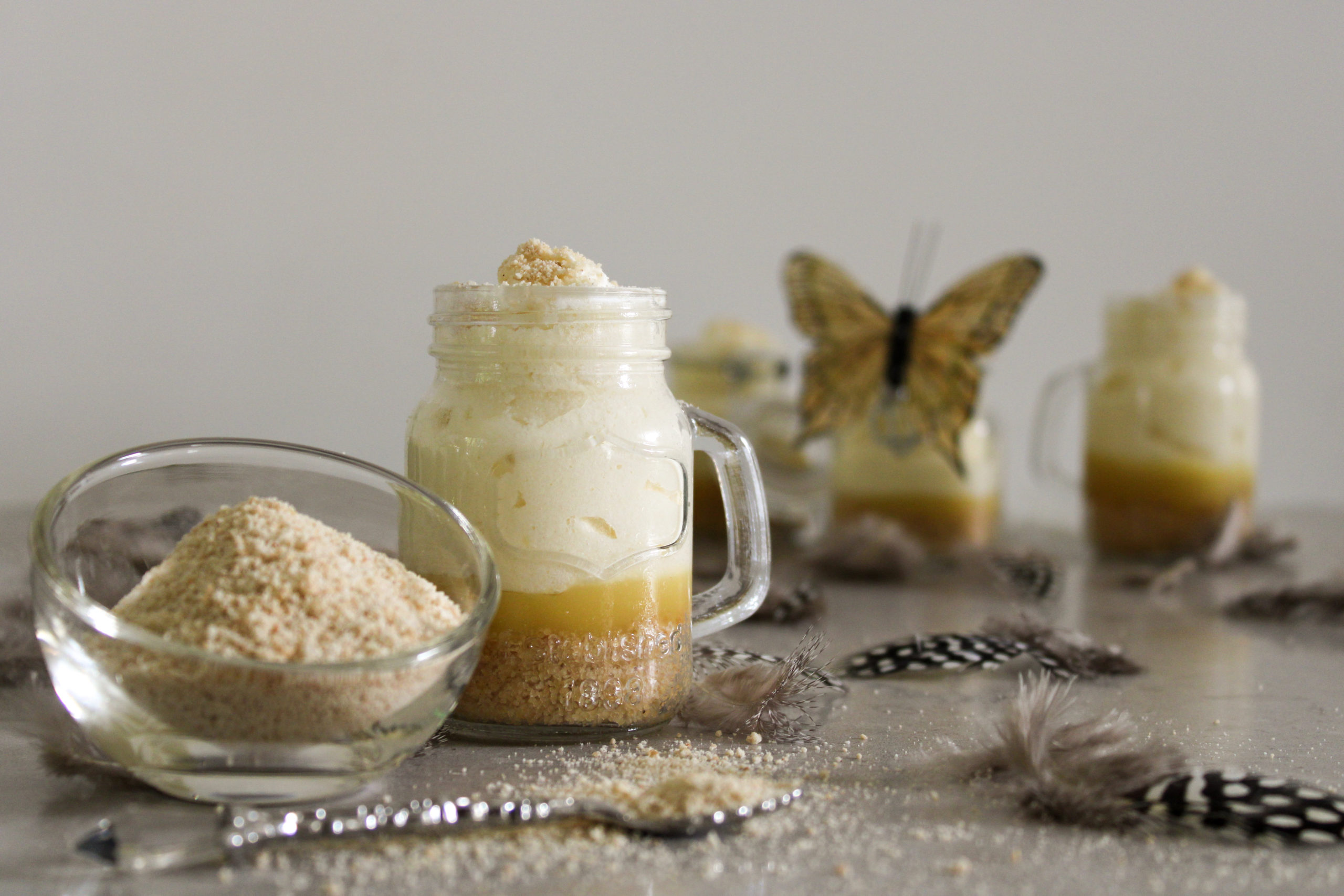 White Chocolate Mousse with Lemon Curd