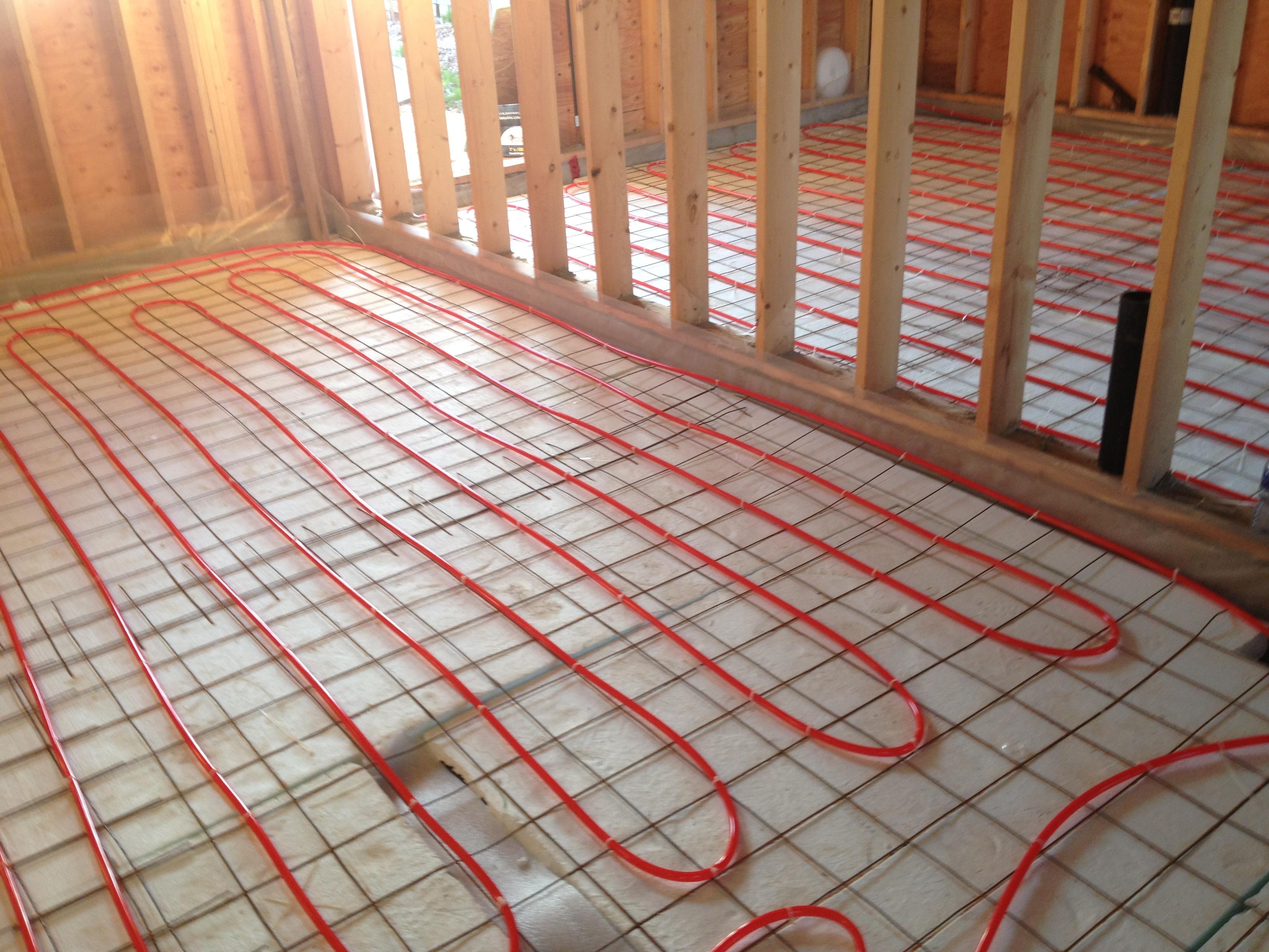 Boiler, Infloor Heating Loops.