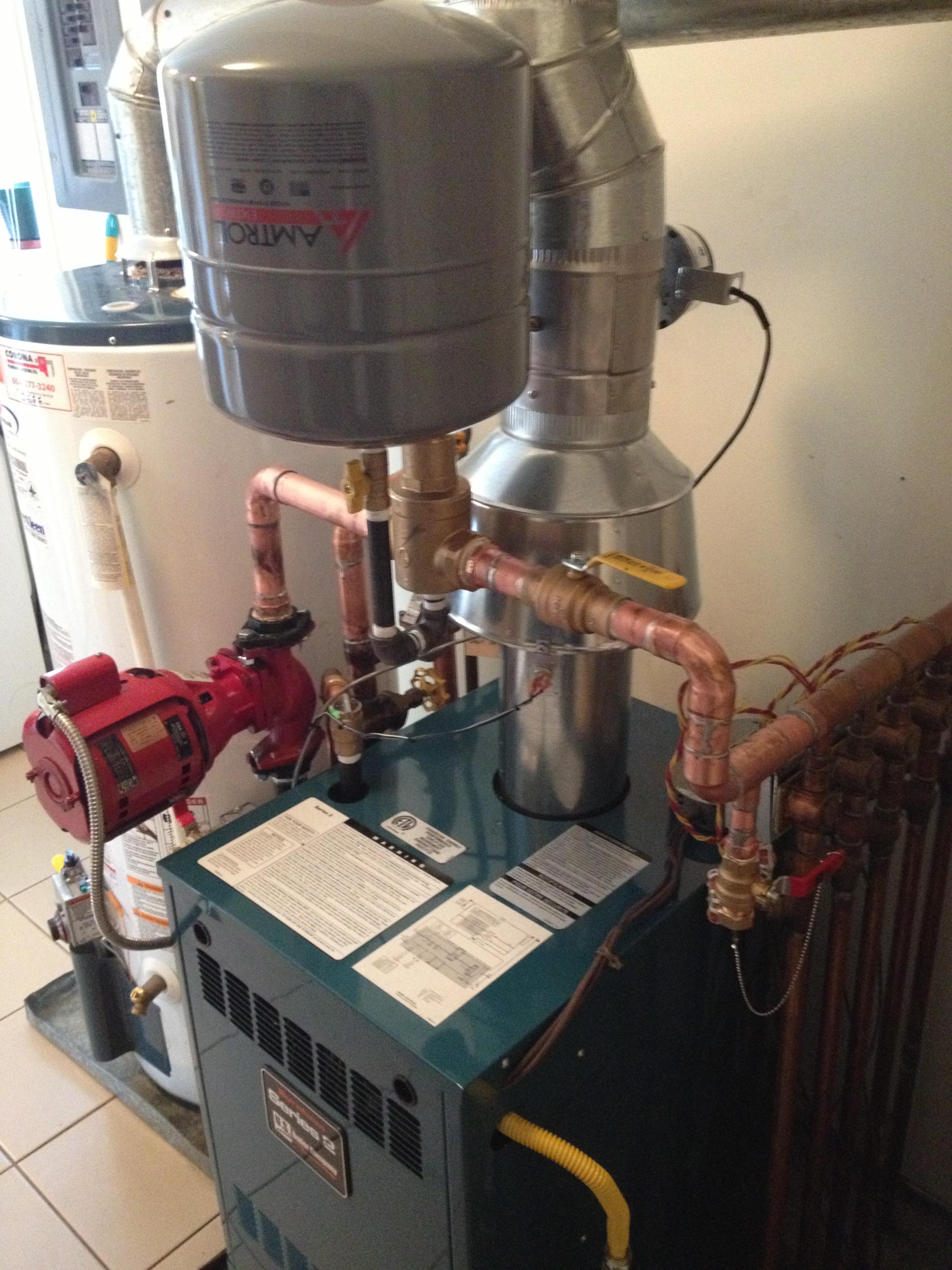 Baseboard Boiler.