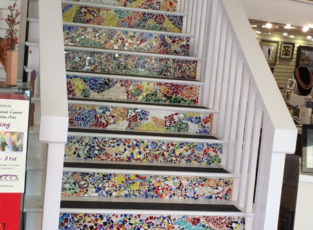 Those mosaic stairs!