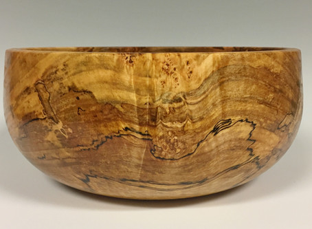That beautiful red maple calabash bowl...