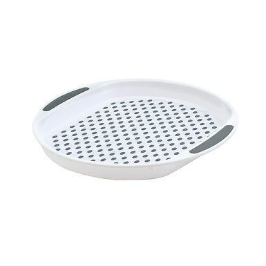 Round Non-Slip Serving Tray - White