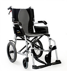 Karma Ergo Lite Deluxe Transit Folding Wheelchair SWL 100kg