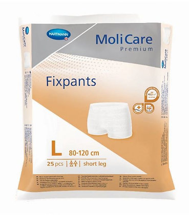 Molicare Premium Fixpants Short Leg Large Waist 80 120cm Brown
