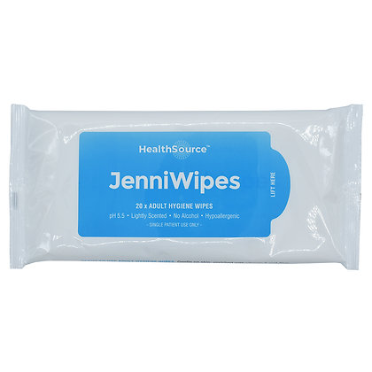 Jenni Wipes 21 x 26cm Pack of 20