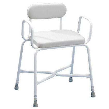 Bariatric Shower Stool with Padded Seat, Arms and Back Width 660mm SWL 254k