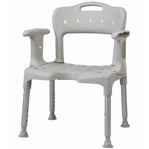 etac swift shower chair with armrests u0026 back grey