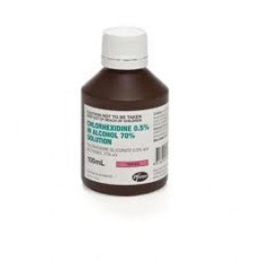 Chlorhexidine 0.5% Alcohol 70% 100ml Each
