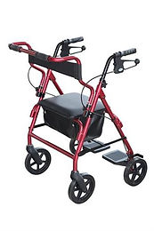 2 IN 1 Transit Rollator, Red SWL 160kg
