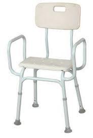 Aluminium Shower Stool with Backrest SWL 140kg